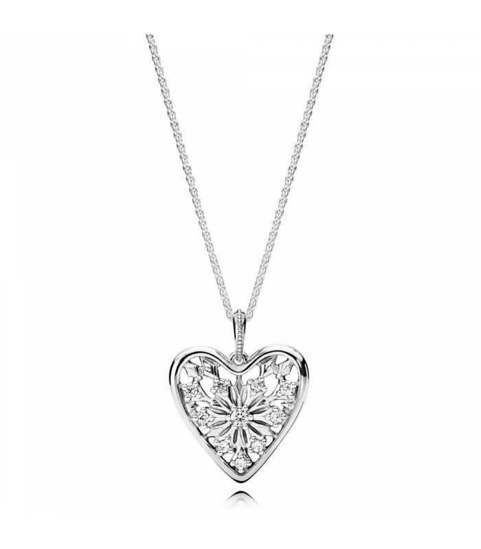 b574713828d7 Collar en plata de ley Corazón de Invierno - Joyería Sánchez