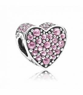 Charm Corazón Deslumbrante Rosa 792069PCZ