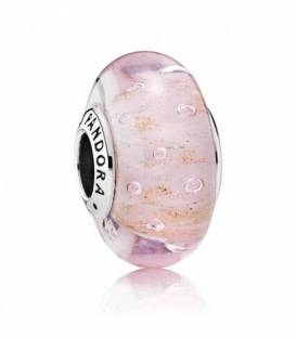 Charm cristal de Murano Rosa Brillante