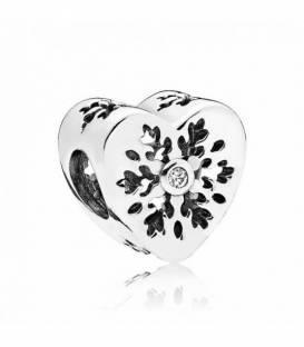 Charm en plata de ley Corazón Copo de Nieve 796359CZ