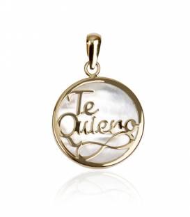 Colgante Te Quiero oro 18k y nácar