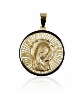 """Medalla """"Celestial"""" Oro bicolor 18k Virgen niña"""