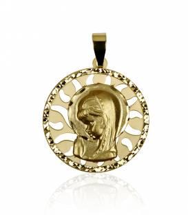 """Medalla """"Celestial"""" Oro 18k Virgen niña"""