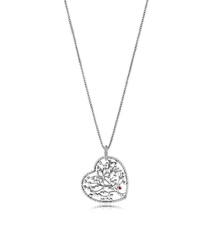 Collar en plata de ley Árbol de Amor 396582ENMX-75