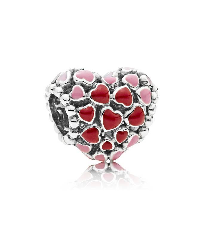 charm pandora corazon rojo