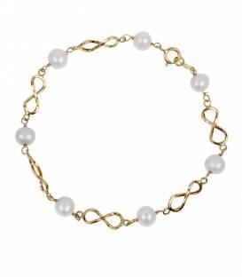 "Pulsera ""Infinite"" Oro 18k. y perlas"