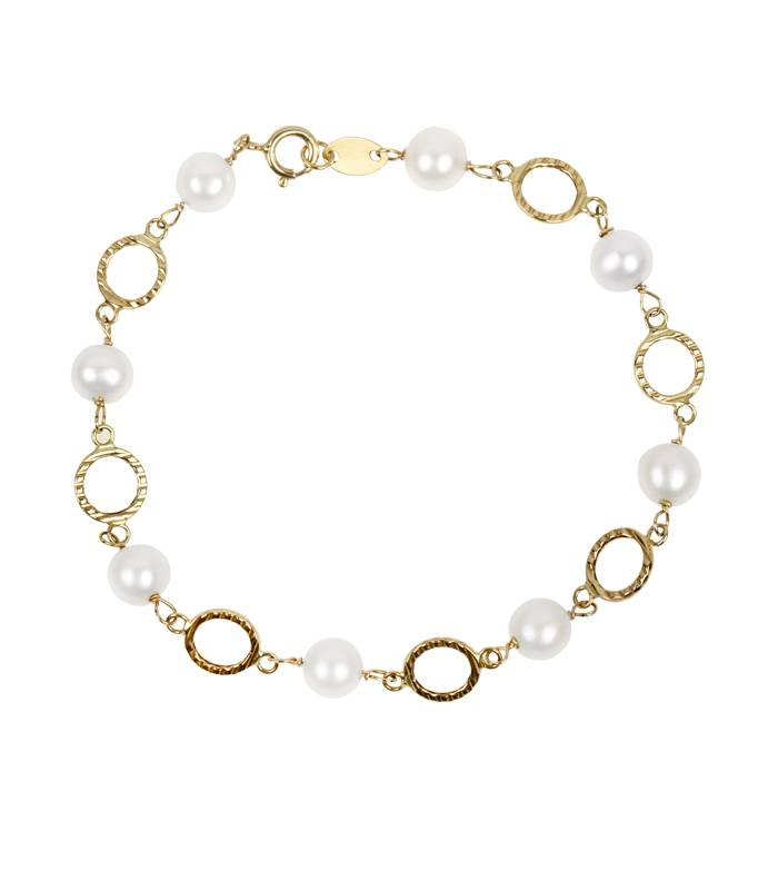 """Pulsera """"Andeo"""" Oro 18k. y perlas"""