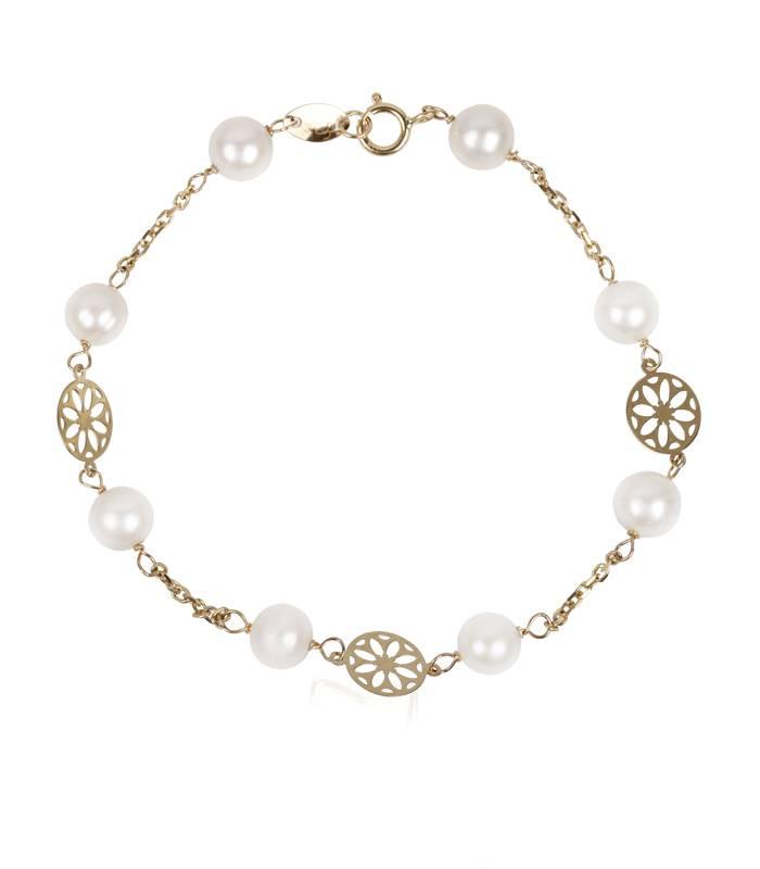 """Pulsera """"Garden"""" Oro 18k. y perlas"""