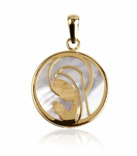 """Medalla """"Brigth"""" Oro 18k Virgen niña"""