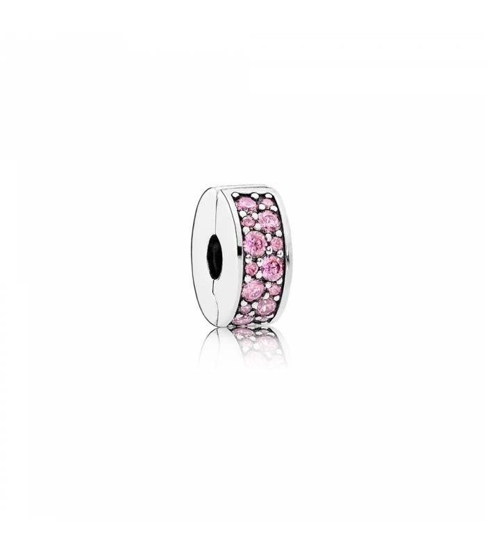 Charm clip Elegancia rosa brillante 791817PCZ