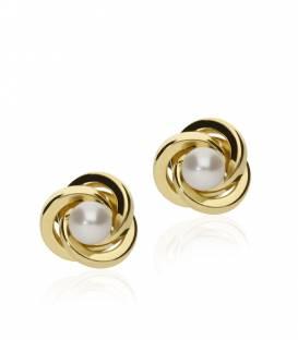 """Pendientes """"Nudes"""" Oro 18k y perlas"""