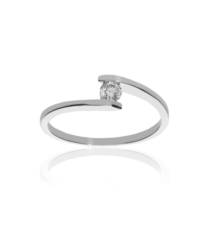 Solitario Oro Diamante 0.18 cts