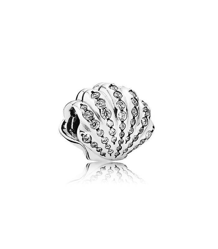 Charm Pandora en plata de ley Concha de Ariel 791574CZ
