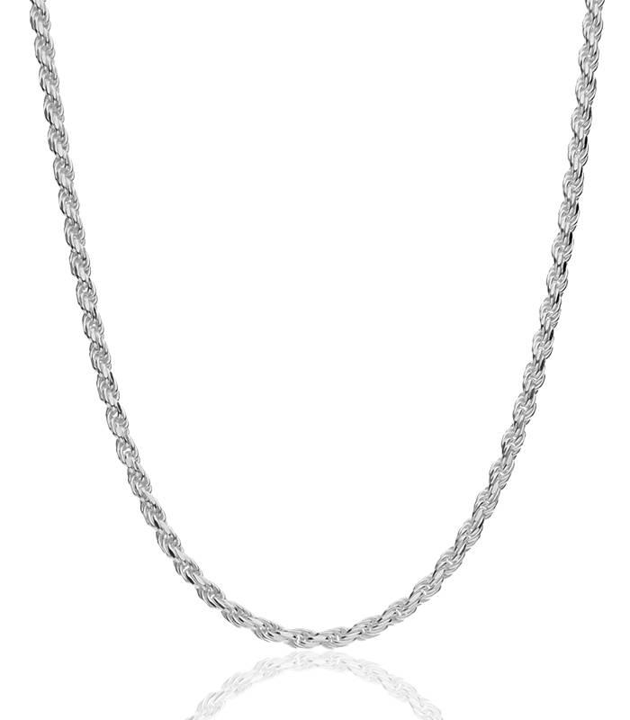 "Cadena ""Klus"" en Plata de Ley 50cm"