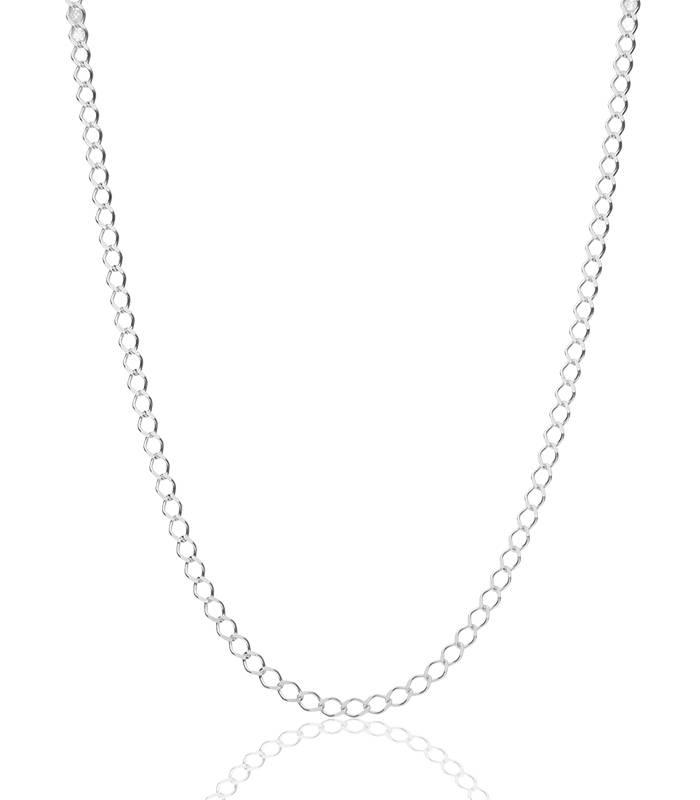 """Cadena """"Silen"""" en Plata de Ley 50 cm"""