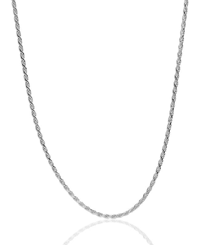 "Cadena ""Klus"" en Plata de Ley 60cm"