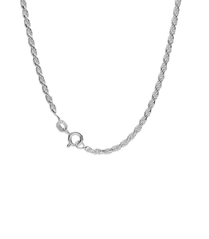 "Cadena ""Klus"" en Plata de Ley 45 cm"
