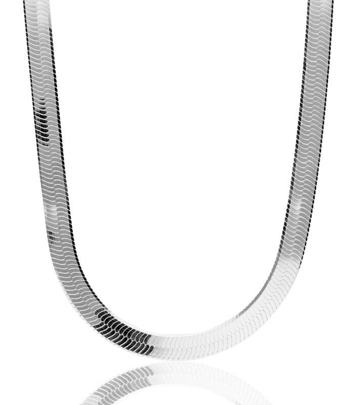 """Cadena """"Snake"""" en Plata de Ley 45 cm"""
