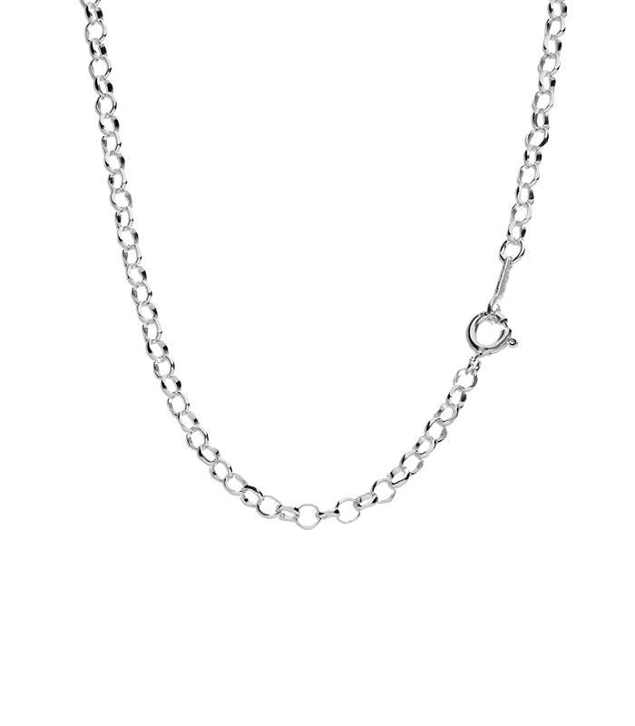 """Cadena """"Rings"""" en Plata de Ley 50 cm"""