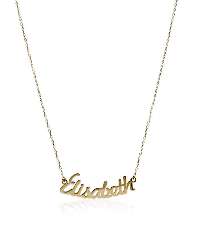 f12c7cdd641 Collar de nombre de Oro de 18k