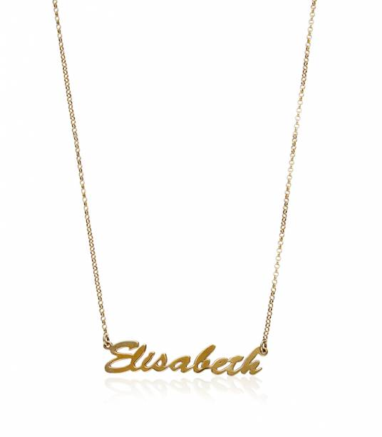 492e5218df62 Collar de nombre baño de oro