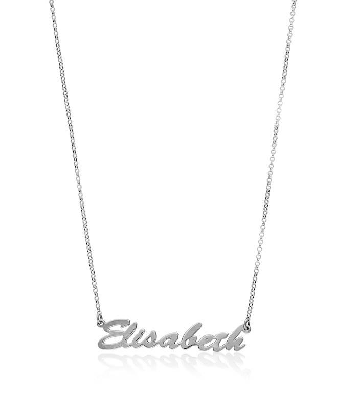 2813e01db Collar de nombre plata