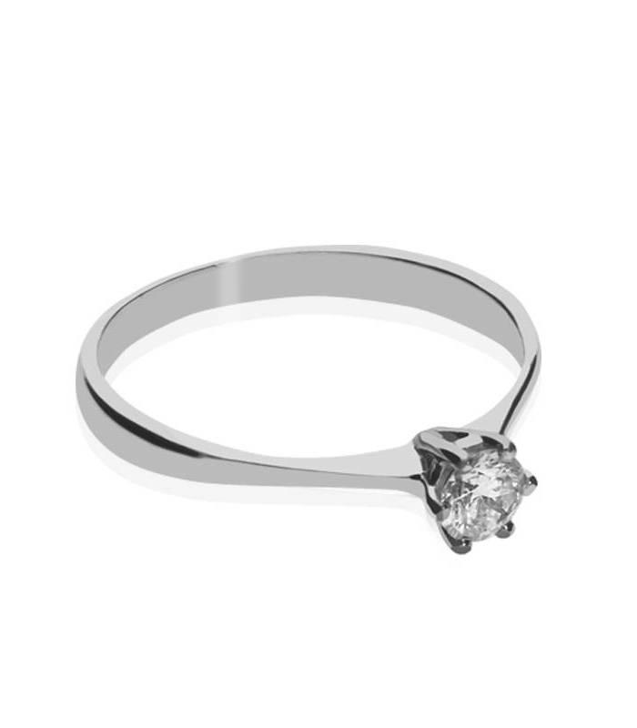 """Solitario """"Aurora"""" Oro Blanco y Diamante"""