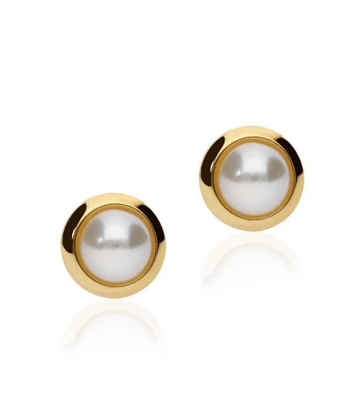 Pendientes Oro con Perlas