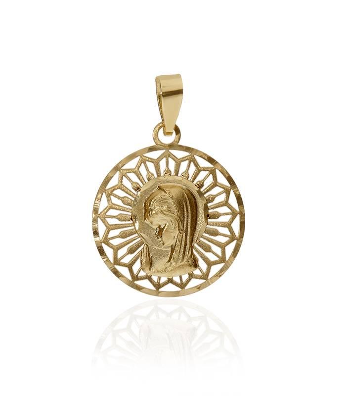 """Medalla """"Virgen Niña"""" Oro 18k"""
