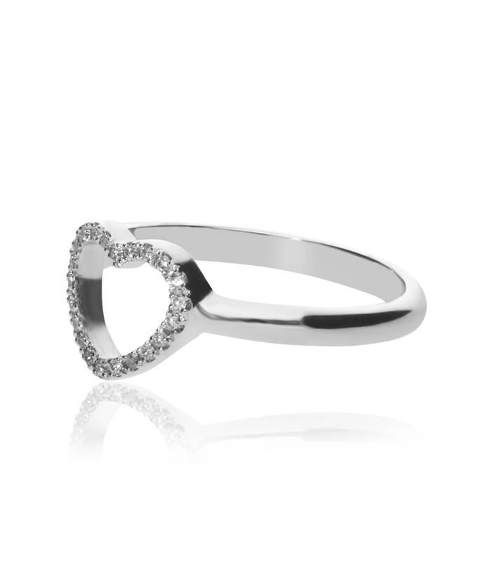 """Anillo """"LIFE Heart"""" Con Diamantes Oro 18 k"""