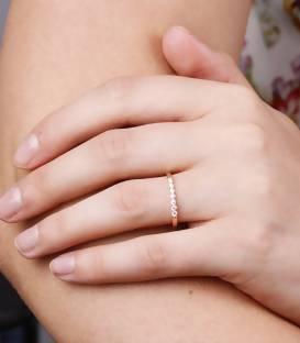 """Anillo """" Rose"""" Oro Rosa 18k y Diamantes 0.15 cts"""