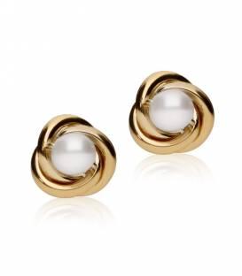 """Pendientes """"Nest"""" Grande Oro 18k y perla"""