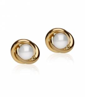 """Pendientes """"Anne"""" Grande Oro 18k y perla"""
