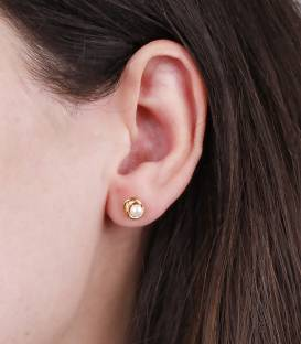 """Pendientes """"Anne"""" Pequeño Oro 18k y perla"""