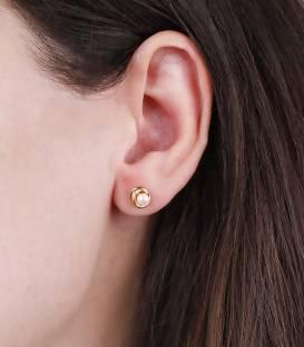 """Pendientes """"Anne"""" Mediano Oro 18k y perla"""