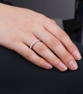 """Anillo """"Luce"""" Oro Blanco y 11 Diamantes"""