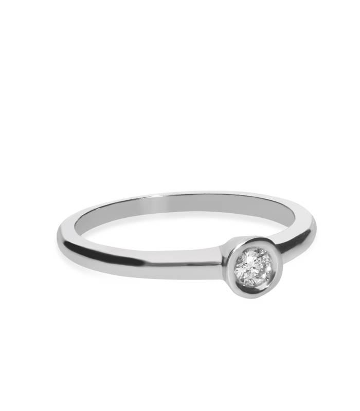 """Anillo """"Moon"""" Oro Blanco y Diamante"""
