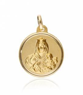 Escapulario oro 18K Virgen del Carmen
