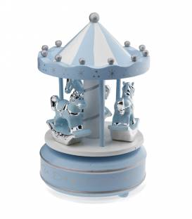 Carrusel musical bebé Madera Azul