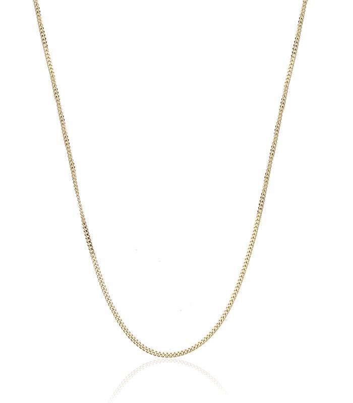 Cadena Eslabón Barbado Oro 18k. 45cm