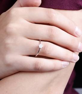 """Anillo """"Linden"""" Oro Blanco y Diamantes"""