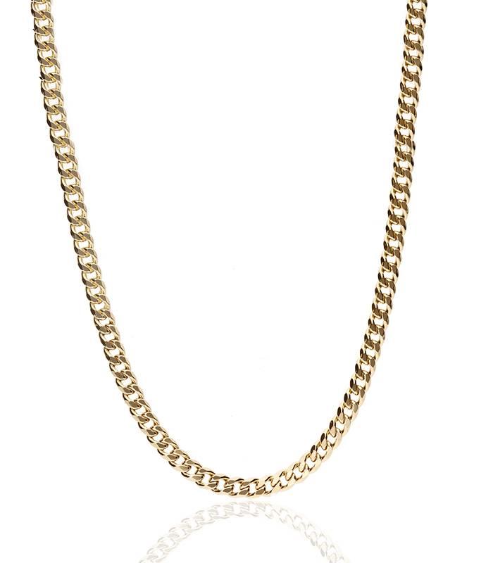 """Cadena """"Cosine"""" Eslabones Barbados Oro 18k 60cm"""