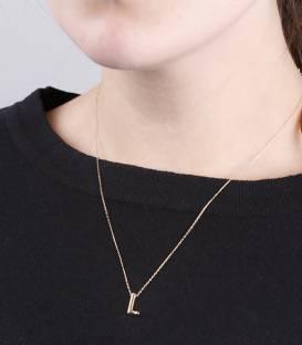 """Gargantilla """"L"""" oro 18k y diamante"""