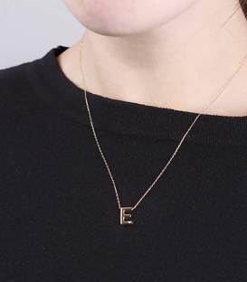 """Gargantilla """"E"""" oro 18k y diamante"""