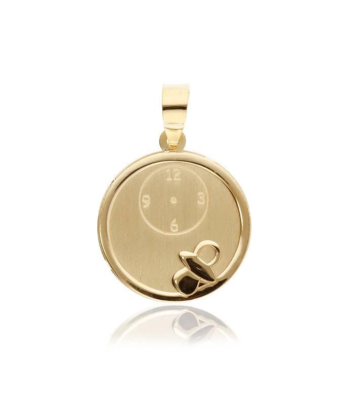 Medalla Oro Chupete y Reloj