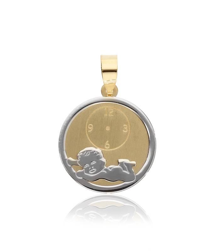 Medalla Oro Bicolor 18k. bebé