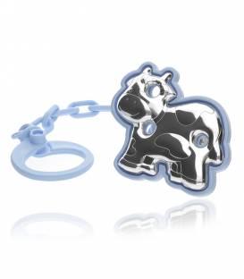 Chupetero Bilaminado Plata Vaca Azul