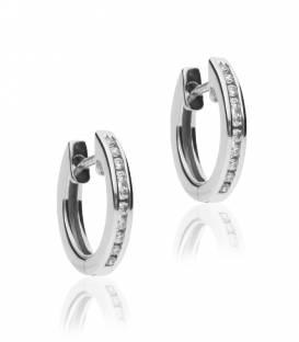 """Pendientes """"Muriel"""" de Oro Blanco 18k. y Diamantes"""