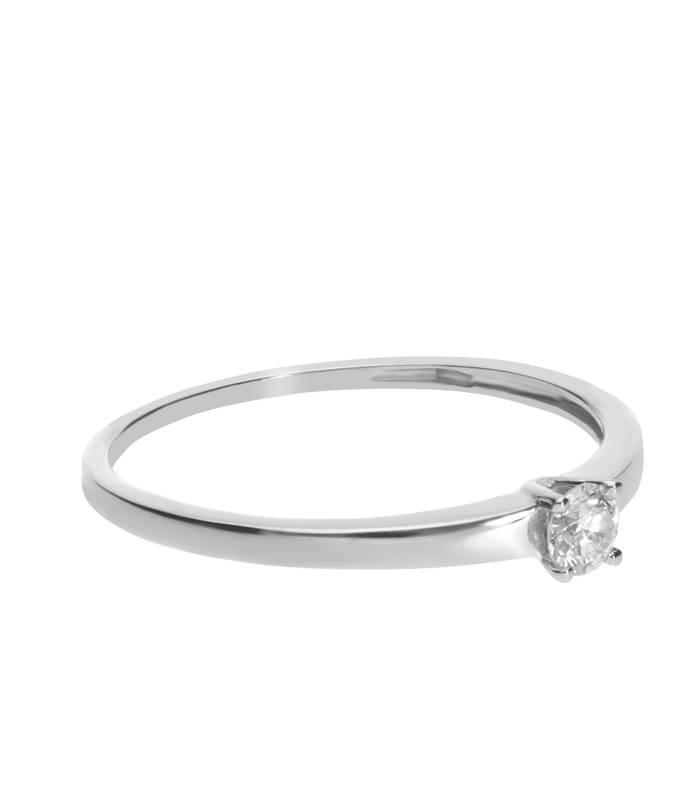 Solitario Oro y Diamante 0.15 cts