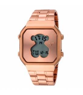 Reloj Tous D-Bear SQ de acero IP rosado 600350290